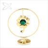 Premium Elegant Gold Plated Metal Four Leaf Clover Good Luck