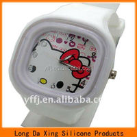 cute square silicone watches for students