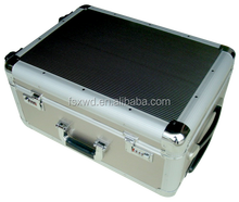 "19"" Makeup Aluminum Rolling Cosmetic Train Case Aluminum Artist Lockable Box"