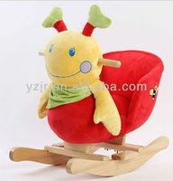 red plush caterpillar rocking horse/swing ride on toys