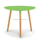 De alta qualidade Design único bom preço Mdf quadro de café com pernas de madeira