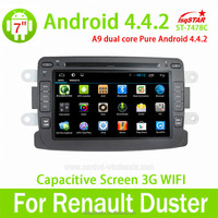 GPS Android 4.4 Mirror-link Quad core car dvd player for Renault Duster/Logan/Sandero with GPS/Bluetooth/TV/3G