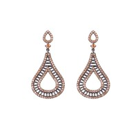 YE0097, sterling silver earrings, crystal chandelier,high quality OEM