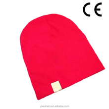 lovely baby red knitted warm protection hats