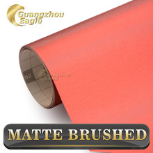 Hot Sell 1.52*20m Brushed Metallic Foil Red Chrome Vinyl Wrap