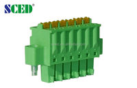 3.50mm pluggable terminal block pcb spring type electrical connectors