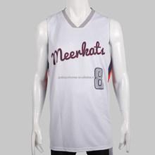 2015 Latest white&blue dri fit custom reversible basketball jersey design
