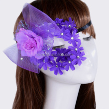 2015 New Arrival hot sale face mask flower feather latex mask