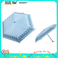 Solid Color Nice Looking 3 Fold Mini Umbrella For Rain and Sun 3 Fold Mini Manual Open Umbrella