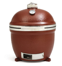 "2015 Innovative 18"" Red Stand- alone Ceramic Kamado Charcoal Smoker Grills for Outdoor Barbecue"