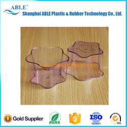 Supply New design PS clear disposable colorful plastic cup ABLE-SL0120