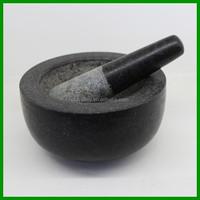 Herb& Spices grinder Polished Stone Mortar and Pestle cooking Sets
