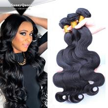 Sunny Queen hair 2015 Sunny Queen 7a Human Hair Cambodian Mongolian Brazilian Peruvian Malaysian Burmese virgin hair