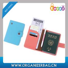 Encai Wholesale Mini Journey Organizer Passport Cover/Passport Case/Stocked Tickets&Cards Holder