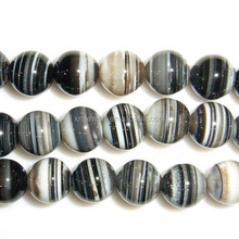Gros pierre semi - précieuse perles ronde naturelle madagascar agate perles