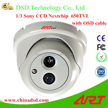 High resolution 1000TVL Vandal-proof Indoor Dome Security CCTV Camera System Auto Backlight