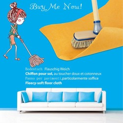 floor cleaning mops disposable wipes made of needle punch nonwoven fabric 50x70cm