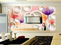 TV backdrop wallpaper bedroom modern minimalist living room non-woven wall cover Seamless wallpaper large 3D hotel mural