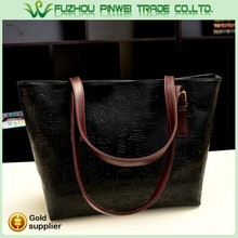hand paint leather bag / woman hand bag leather