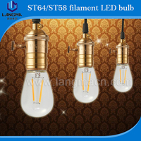china led lights filament candle/global socket night light filament bulb with dimmable