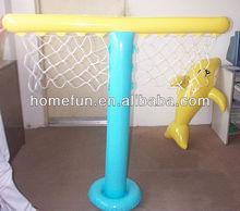 cheap portable basketball goal with inflatable shark