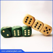 Wooden dice shaped usb flash drive wooden pen drive wooden dice shaped usb stick