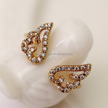 New arrival latest fashion angel wing ring with diamond