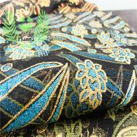 Shaoxing textile green blue glitter black fabric tulle mesh