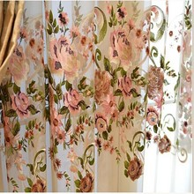 Factory Hot Selling New Design Embroidery Window Curtain