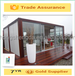 beautiful prefab shipping container office/light steel structure office/prefabricated sandwich panel shop/garden house