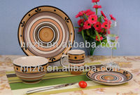 2013 fashion ceramic handpainted Circle Design kitchen crockery stoneware dinnerware sets