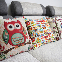 ZOOYOO owls pillow case children animals pillow case house necessary China bloster manufacturer(ETH0135&136&137)