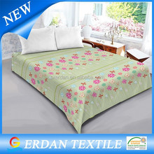 100% polyester high quality soft printed baby blanket sheet