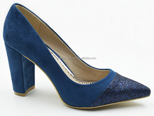 Women thick shoes Pumps Pointed Toe Chunky Heel Party Pumps Office women pump high heel shoes