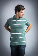 2015 striped Polo t-shirt for men