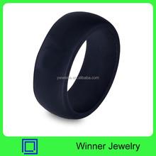 Custom Black Mens Silicone Wedding Rings