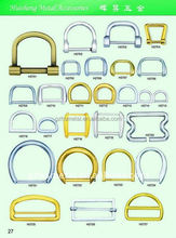 Wholesale cheap price leather bag d ring buckle