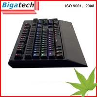 2015 New Backlit Ultra-thin Keyboard 3 color LED Ergonomic Gaming mechanical Keyboard USB Multimedia Backlight Keyboard Led