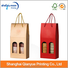 Cheap wholesale paper wine bags in Shanghai.