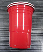 American disposable plastic party beer 16OZ red cups