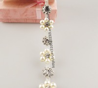 fashion sunflower beautiful crystal rhinestone chain rolls sew on pearl yard rhinestones flatback strass bridal dress trimmings