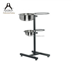 2015 adjustable stainless steel pet/dog/cat bowls with shelf for wholesale