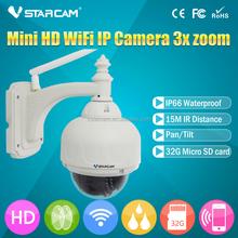 Original VSTARCAM ip camera T7833WIP-X3 Network HD IP Camera POE 1.3MP mini dome ip camera 720P