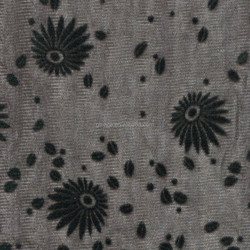 Sunflowers Flower pattern flocking mesh tricot Nylon