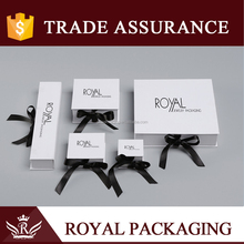 Promotion Custom Logo Stamped White Paper Jewelry Box