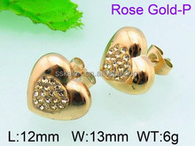 Wholesale inmitation zirconia dubai gold jewelry 's alloy earring