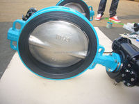 Tianjin wafer type EPDM seat ANSI gear operated butterfly valve