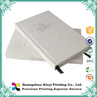 High quality OEM production customized fabric thick hardcover dairy