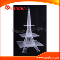 acrylic eiffel tower cupcake stand cake display countertop