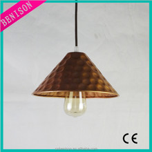 2015 Country Style Wrought Gold Iron Vintage Pendant Hanging Lamp For Industrial And Restaurant Metal Decoration BS284-824